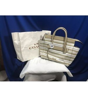 Coach Bleecker Riley Carryall Tote Purse 31002 New